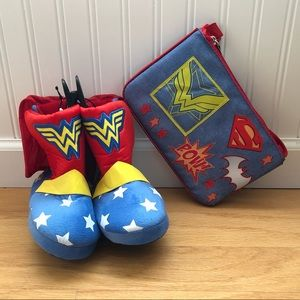 Other - Wonder Woman Youth Slippers S(7/8) & Purse